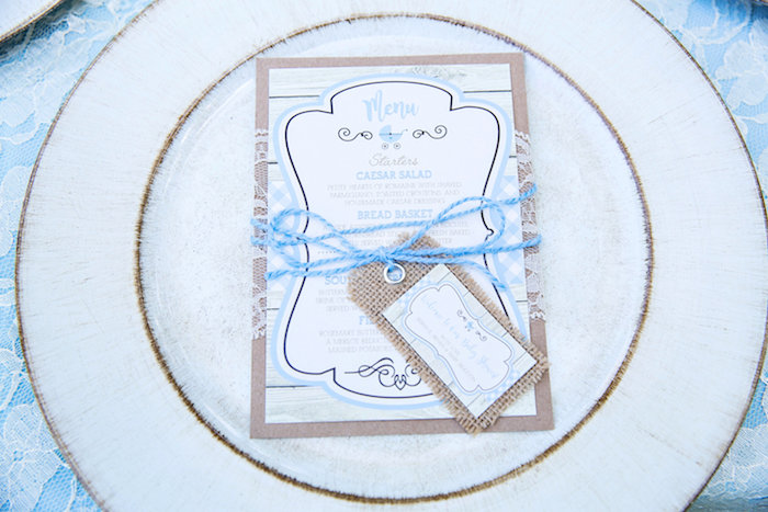 Invitation from a Bottles and Burlap Baby Shower on Kara's Party Ideas | KarasPartyIdeas.com (37)