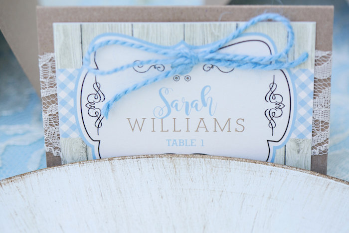 Place card from a Bottles and Burlap Baby Shower on Kara's Party Ideas | KarasPartyIdeas.com (36)