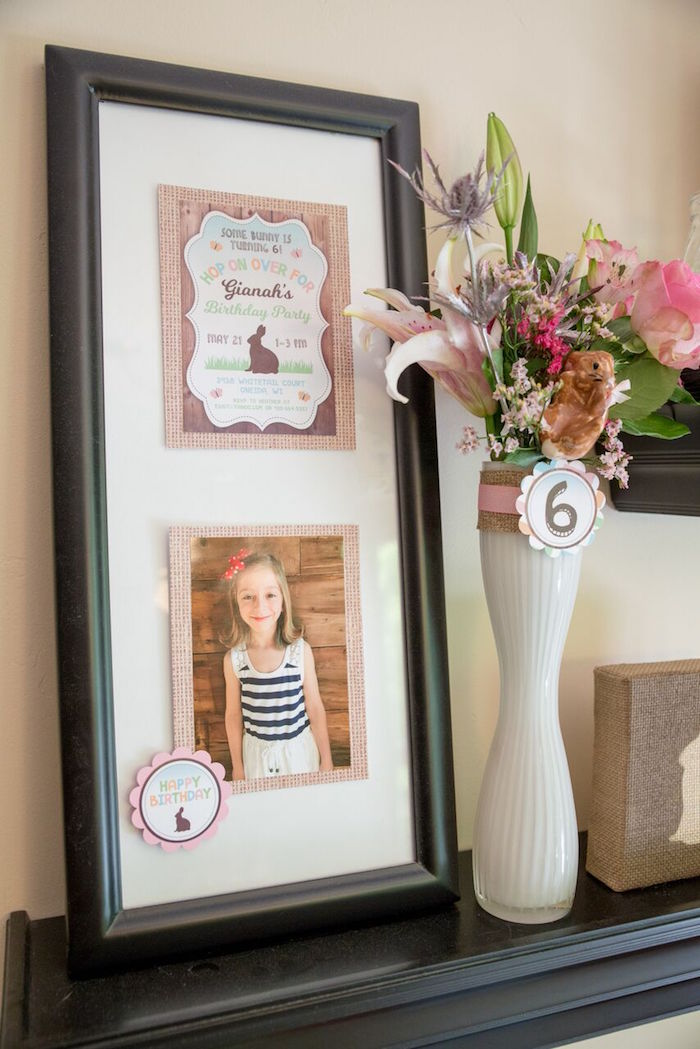 Blooms and prints from a Bunny and Butterfly Birthday Party on Kara's Party Ideas | KarasPartyIdeas.com (28)