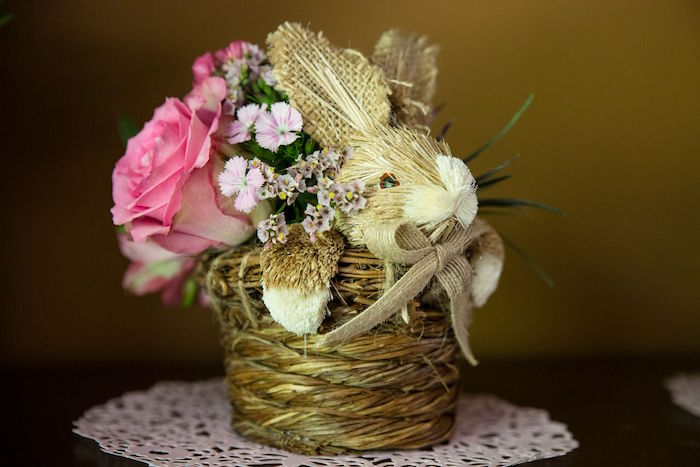 Bunny basket from a Bunny and Butterfly Birthday Party on Kara's Party Ideas | KarasPartyIdeas.com (23)