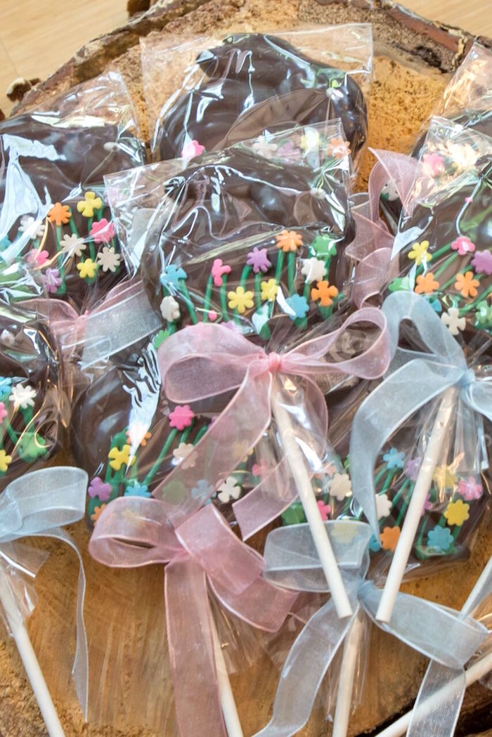 Chocolate bunny pops from a Bunny and Butterfly Birthday Party on Kara's Party Ideas | KarasPartyIdeas.com (19)