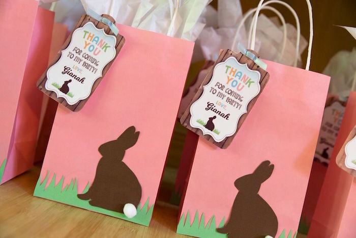 Bunny bags from a Bunny and Butterfly Birthday Party on Kara's Party Ideas | KarasPartyIdeas.com (35)
