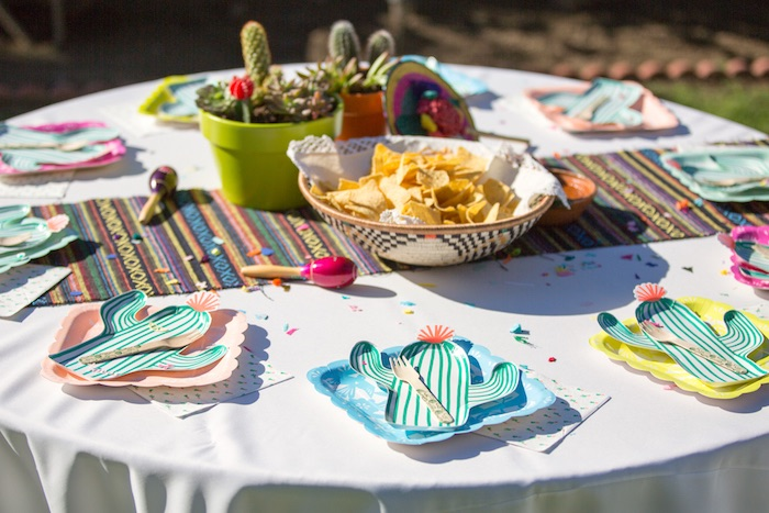Guest table from a Cactus Fiesta Baby Shower on Kara's Party Ideas | KarasPartyIdeas.com (21)