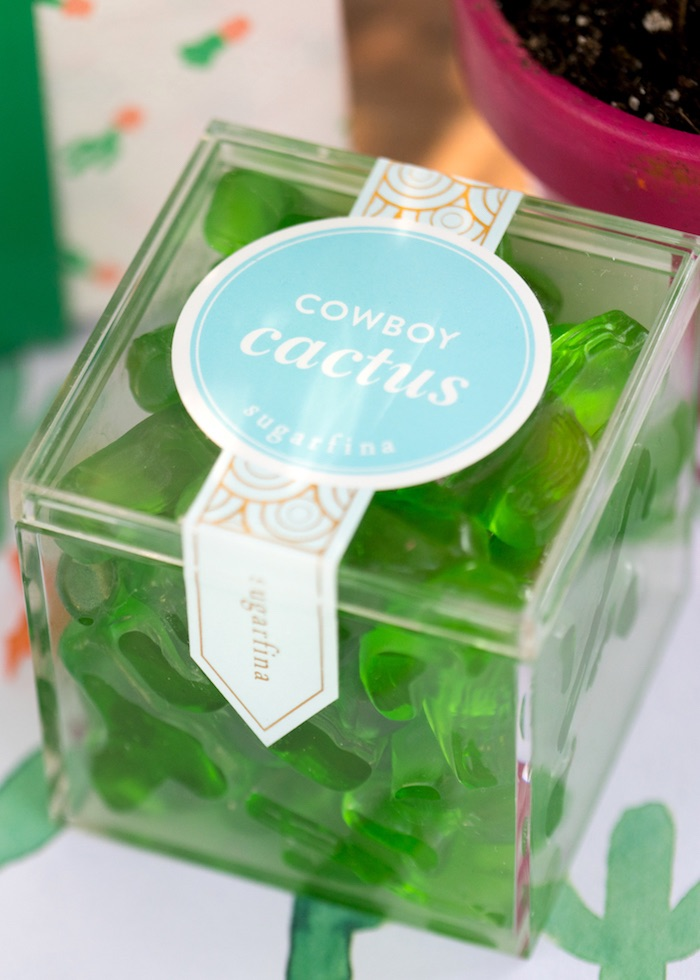 Cactus candy favors from a Cactus Fiesta Baby Shower on Kara's Party Ideas | KarasPartyIdeas.com (14)