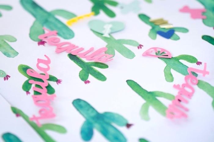 Fiesta confetti from a Cactus Fiesta Baby Shower on Kara's Party Ideas | KarasPartyIdeas.com (6)