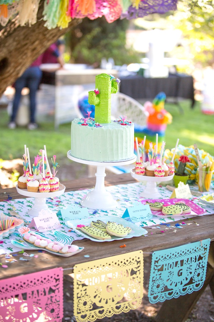 Nice Cakescape + Sweets From A Cactus Fiesta Baby Shower On Karau0027s Party Ideas |  KarasPartyIdeas.