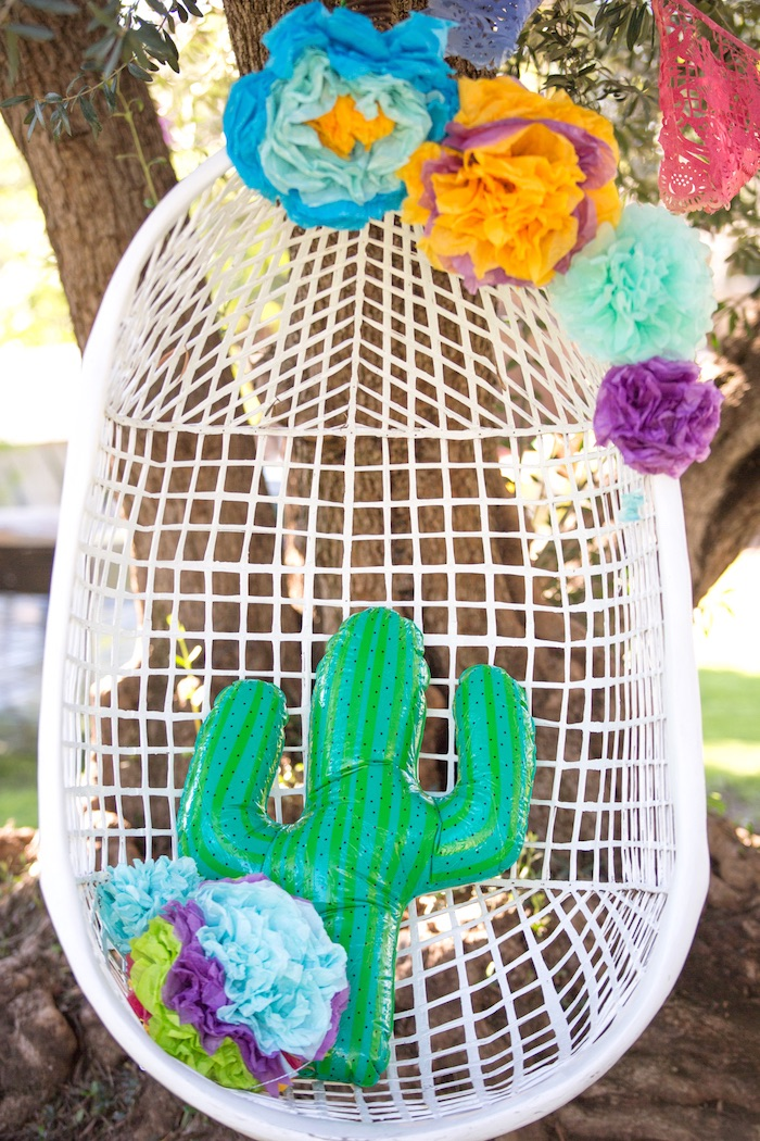Mom-to-Be's Throne from a Cactus Fiesta Baby Shower on Kara's Party Ideas | KarasPartyIdeas.com (28)