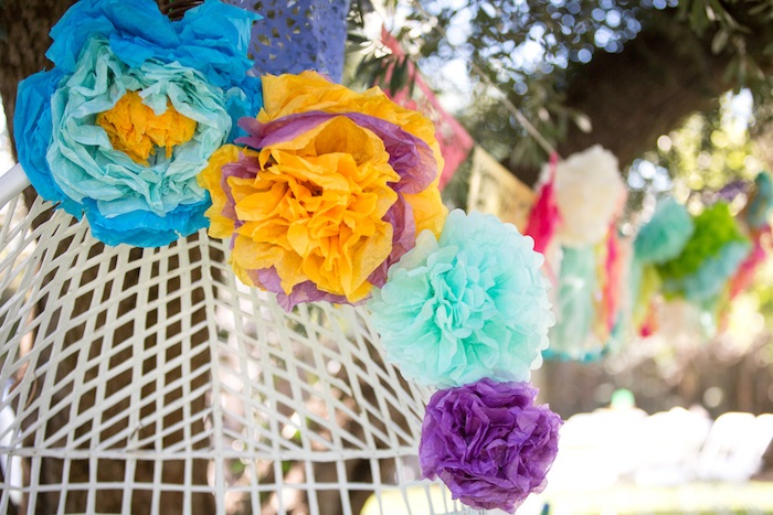 Paper flowers from a Cactus Fiesta Baby Shower on Kara's Party Ideas | KarasPartyIdeas.com (27)