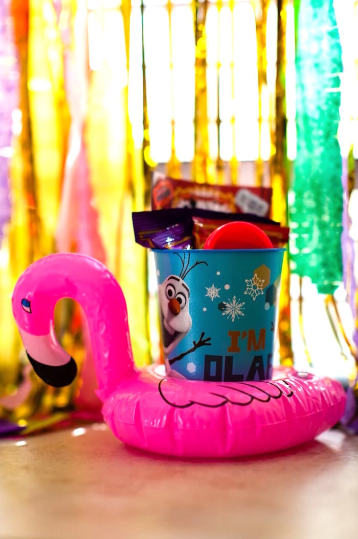 Inflatable flamingo favor from a Cactus & Flamingo First Birthday Fiesta on Kara's Party Ideas | KarasPartyIdeas.com (14)