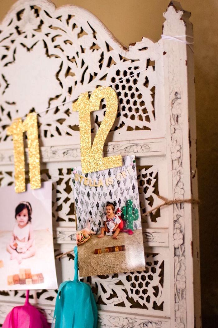 Photo banner from a Cactus & Flamingo First Birthday Fiesta on Kara's Party Ideas | KarasPartyIdeas.com (10)