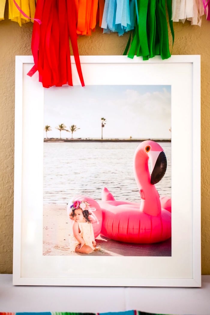 Framed photo from a Cactus & Flamingo First Birthday Fiesta on Kara's Party Ideas | KarasPartyIdeas.com (35)