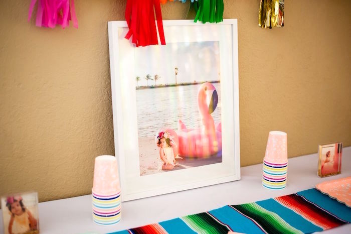 Partyware table from a Cactus & Flamingo First Birthday Fiesta on Kara's Party Ideas | KarasPartyIdeas.com (34)