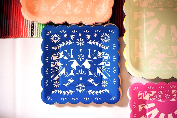 Fiesta plates from a Cactus & Flamingo First Birthday Fiesta on Kara's Party Ideas | KarasPartyIdeas.com (33)