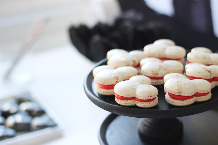 Macarons from a Classic Mickey Mouse Birthday Party on Kara's Party Ideas | KarasPartyIdeas.com (18)