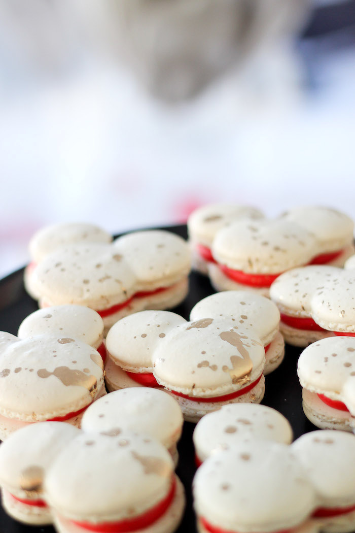 Mickey Mouse Macarons from a Classic Mickey Mouse Birthday Party on Kara's Party Ideas | KarasPartyIdeas.com (16)