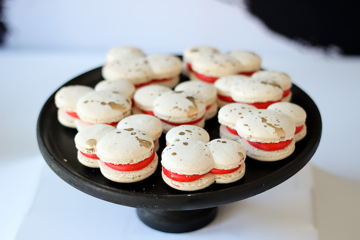 Mickey Mouse Macarons from a Classic Mickey Mouse Birthday Party on Kara's Party Ideas | KarasPartyIdeas.com (14)