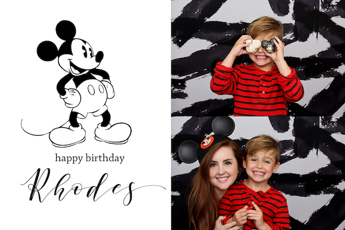 Photo op from a Classic Mickey Mouse Birthday Party on Kara's Party Ideas | KarasPartyIdeas.com (13)