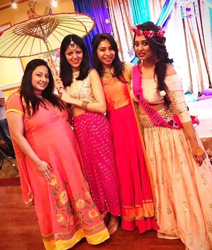 Colorful Henna Bridal Shower Ceremony on Kara's Party Ideas | KarasPartyIdeas.com (15)