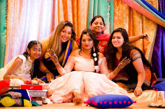 Colorful Henna Bridal Shower Ceremony on Kara's Party Ideas | KarasPartyIdeas.com (13)
