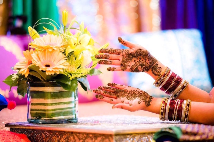 Henna from a Colorful Henna Bridal Shower Ceremony on Kara's Party Ideas | KarasPartyIdeas.com (12)