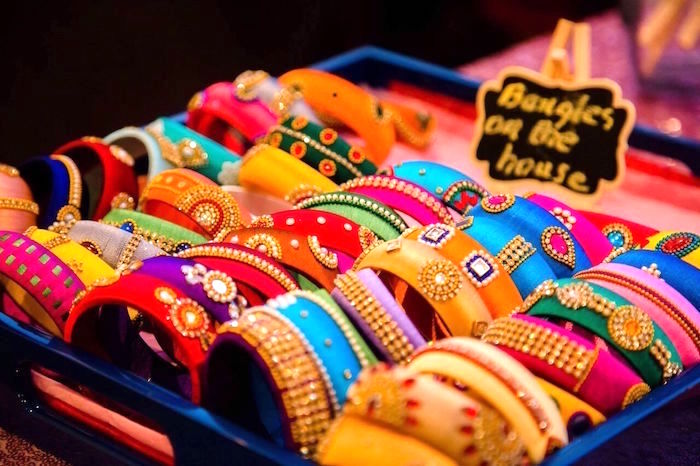 Bangles from a Colorful Henna Bridal Shower Ceremony on Kara's Party Ideas | KarasPartyIdeas.com (11)