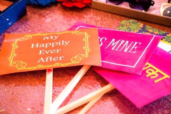 Photo booth signs from a Colorful Henna Bridal Shower Ceremony on Kara's Party Ideas | KarasPartyIdeas.com (7)