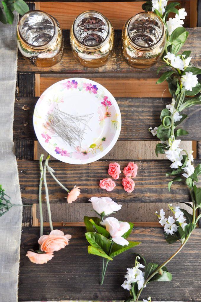 Supplies from DIY Floral Crown Bar via Kara's Party Ideas