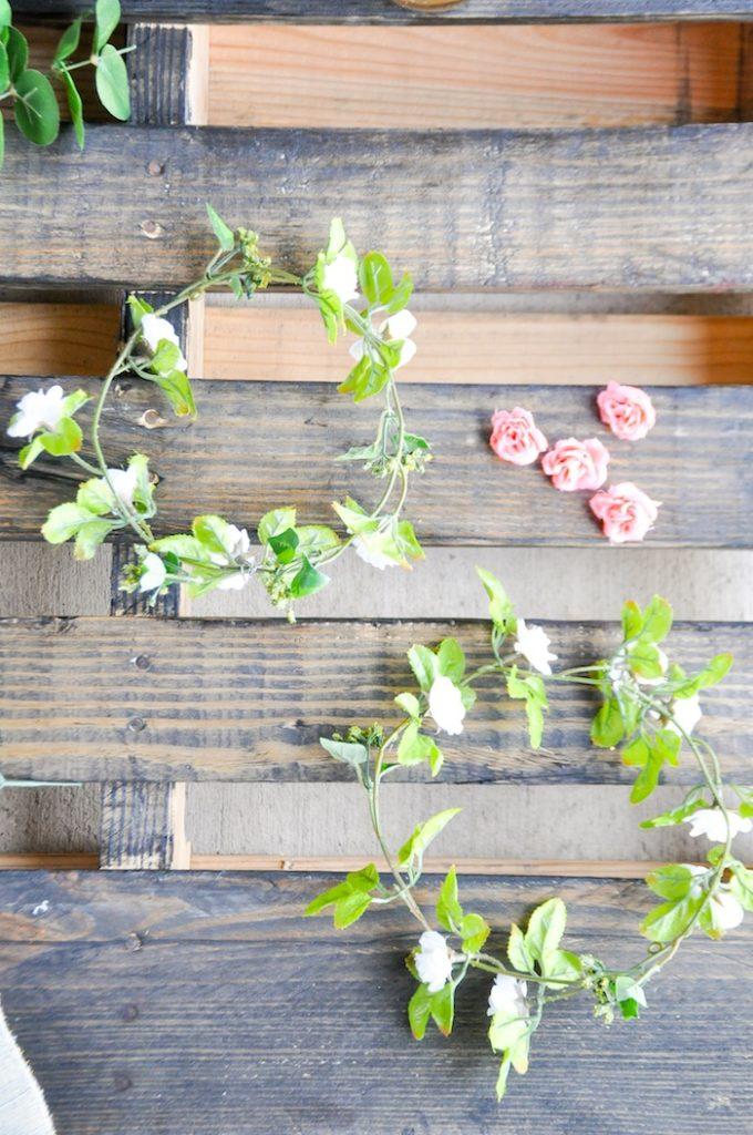 DIY Floral Crown Bar via Kara's Party Ideas