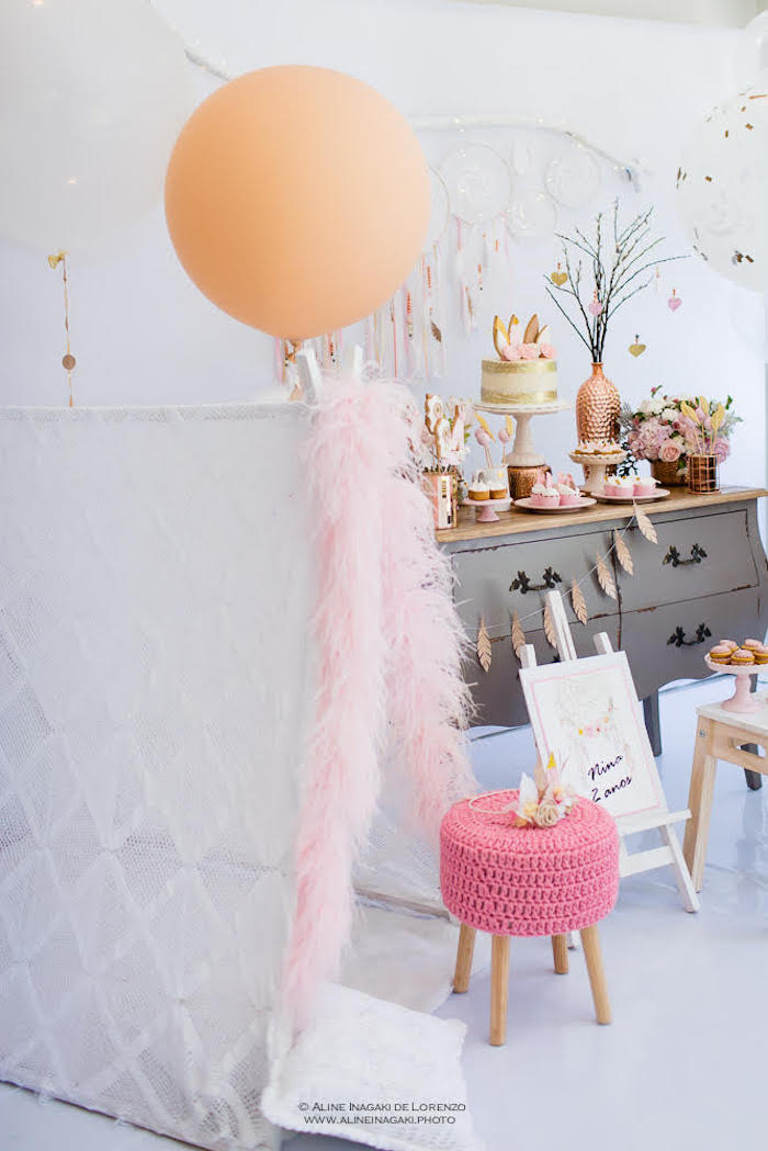 Kara S Party Ideas Dreamy Dream Catcher Birthday Party