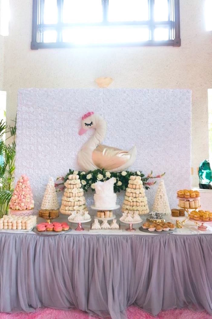 Kara S Party Ideas Dreamy Swan Soiree Kara S Party Ideas