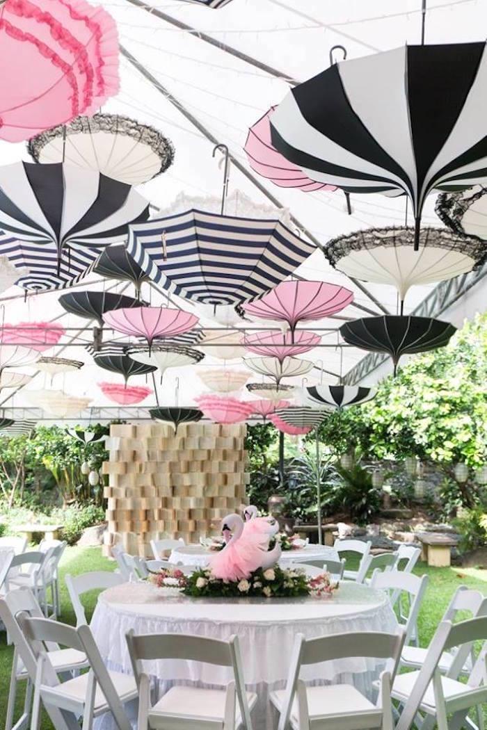 Guest table from a Dreamy Swan Soiree on Kara's Party Ideas | KarasPartyIdeas.com (15)