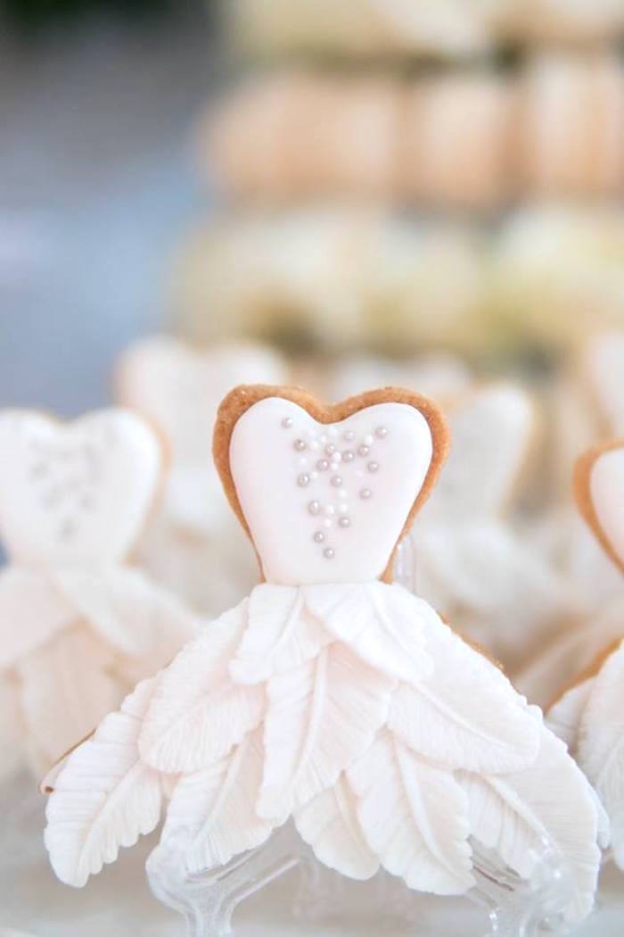 Swan dress silhouette cookies from a Dreamy Swan Soiree on Kara's Party Ideas | KarasPartyIdeas.com (10)