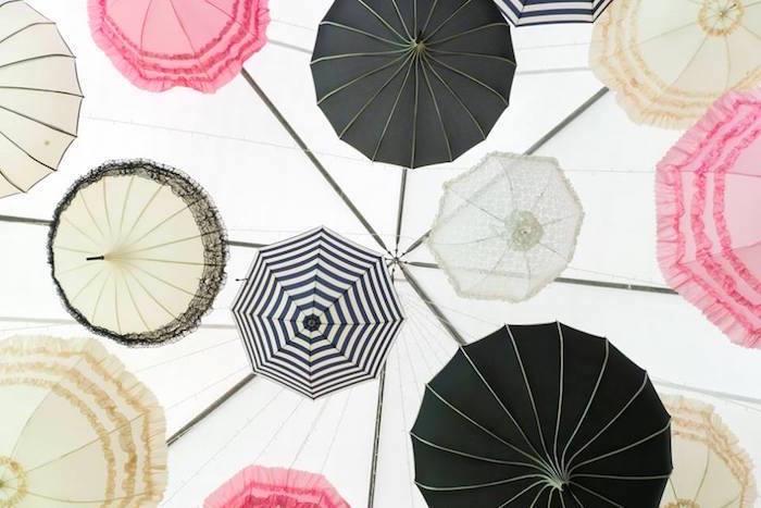 Parasol ceiling from a Dreamy Swan Soiree on Kara's Party Ideas | KarasPartyIdeas.com (4)