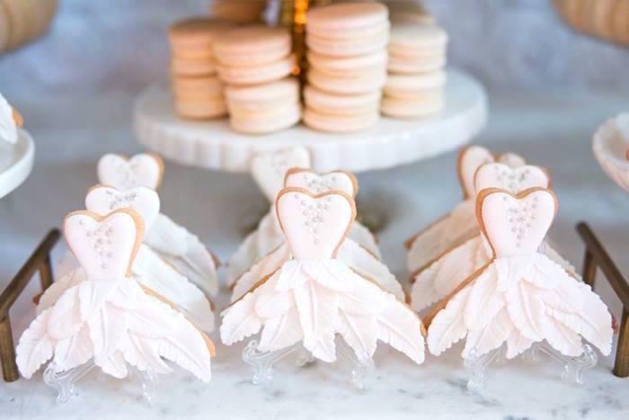 Swan dress silhouette cookies from a Dreamy Swan Soiree on Kara's Party Ideas | KarasPartyIdeas.com (32)