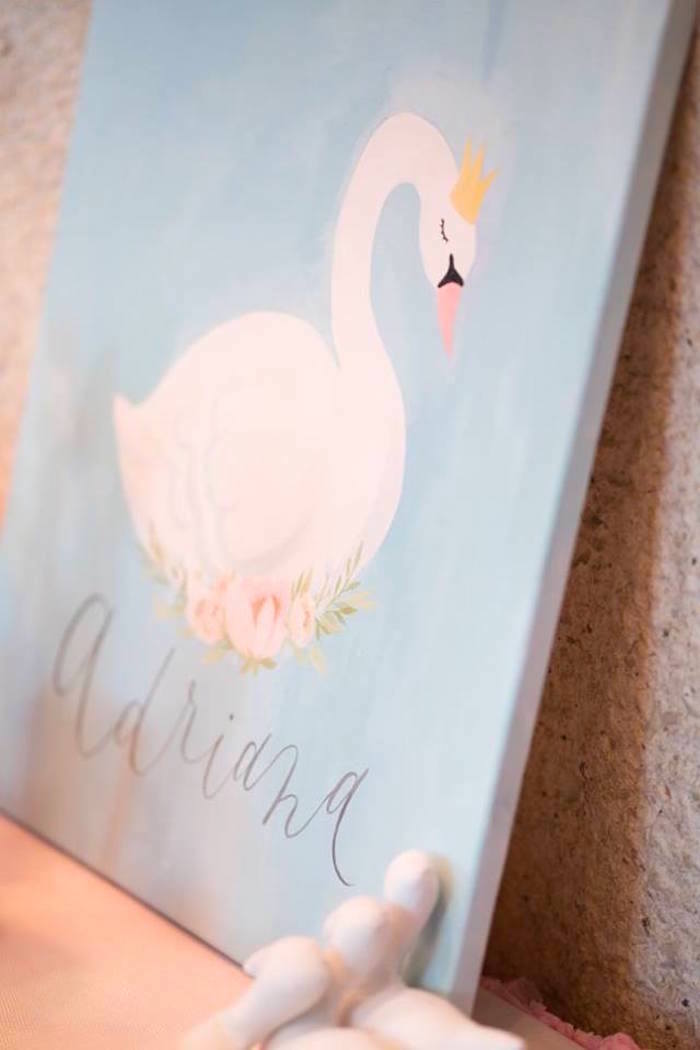 Swan watercolor from a Dreamy Swan Soiree on Kara's Party Ideas | KarasPartyIdeas.com (30)