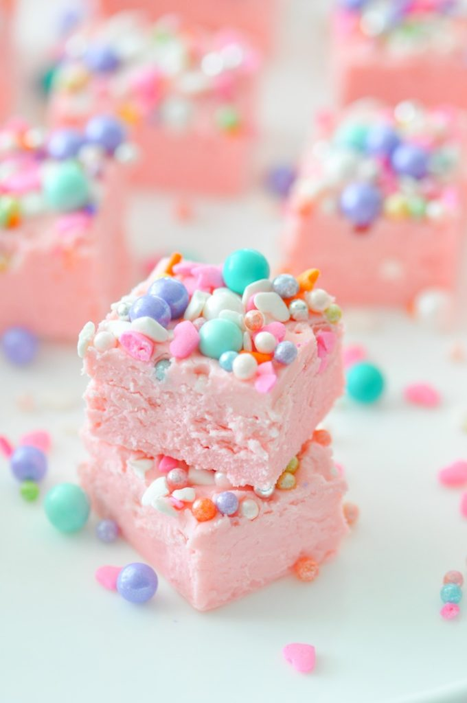 Kara S Party Ideas Easy Two Ingredient Unicorn Fudge