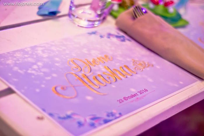 Place setting from an Enchanted Garden Princess Birthday Party on Kara's Party Ideas | KarasPartyIdeas.com (20)