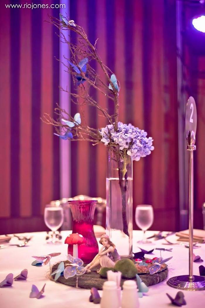 Guest table from an Enchanted Garden Princess Birthday Party on Kara's Party Ideas | KarasPartyIdeas.com (18)