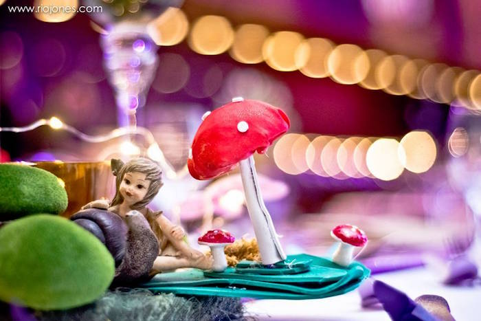 Woodland princess centerpiece from an Enchanted Garden Princess Birthday Party on Kara's Party Ideas | KarasPartyIdeas.com (8)