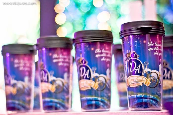 Favor cups from an Enchanted Garden Princess Birthday Party on Kara's Party Ideas | KarasPartyIdeas.com (7)