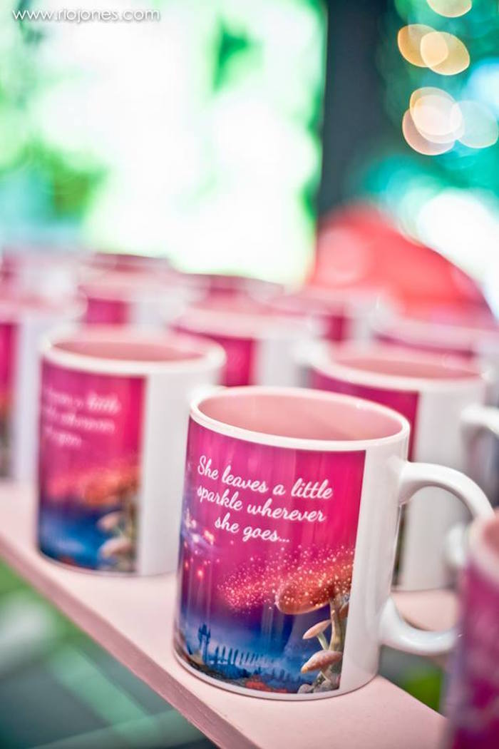 Favor mugs from an Enchanted Garden Princess Birthday Party on Kara's Party Ideas | KarasPartyIdeas.com (6)