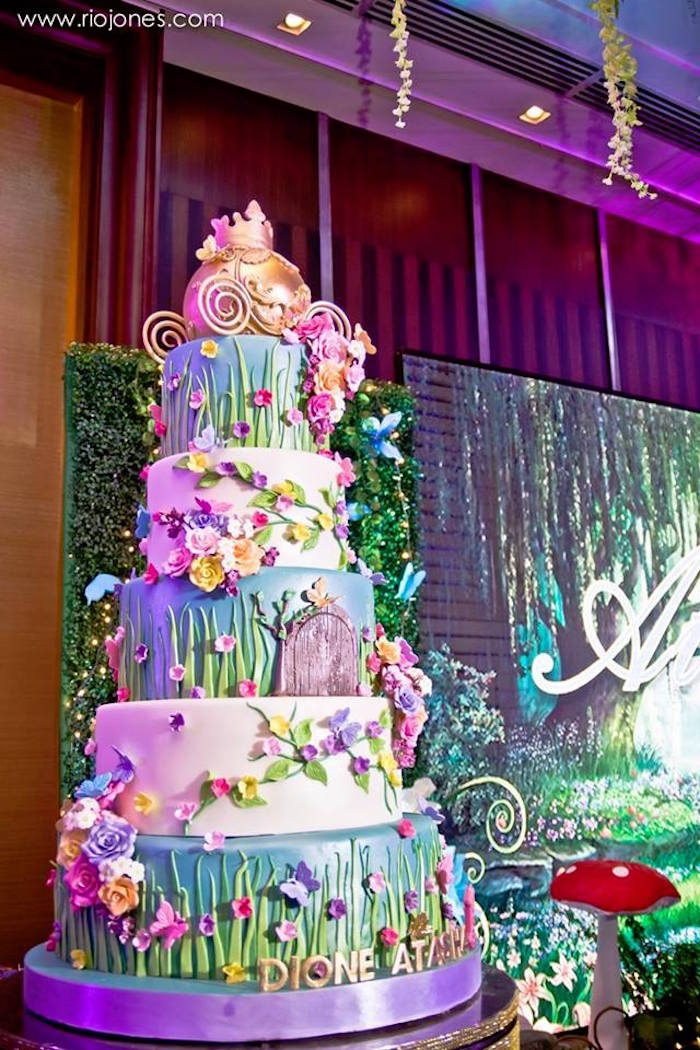 Fairy garden cake from an Enchanted Garden Princess Birthday Party on Karau0027s Party Ideas | KarasPartyIdeas & Karau0027s Party Ideas Enchanted Garden Princess Birthday Party | Karau0027s ...