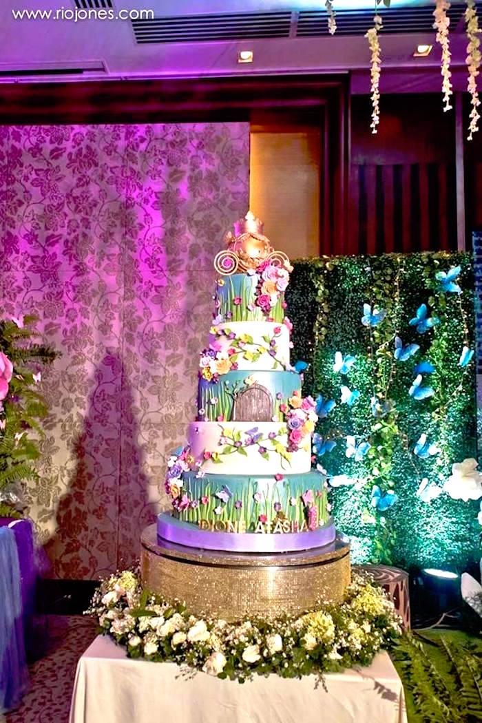 Kara's Party Ideas Enchanted Garden Princess Birthday ...