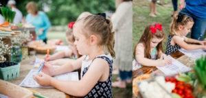 Children coloring from a Farmer's Market Birthday Party on Kara's Party Ideas   KarasPartyIdeas.com (39)