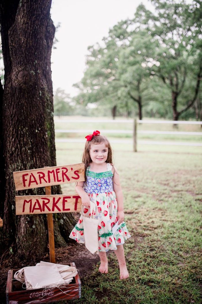 Farmer's Market Birthday Party on Kara's Party Ideas | KarasPartyIdeas.com (6)