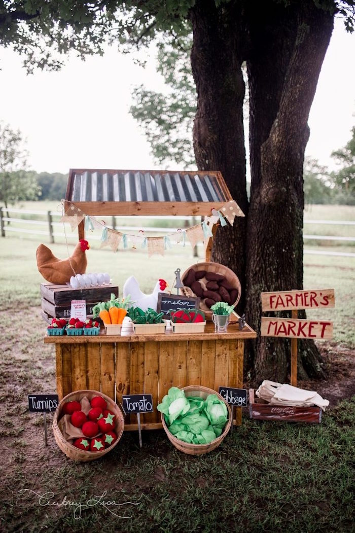 Farmer S Market Birthday Party On Kara Ideas Karaspartyideas 33