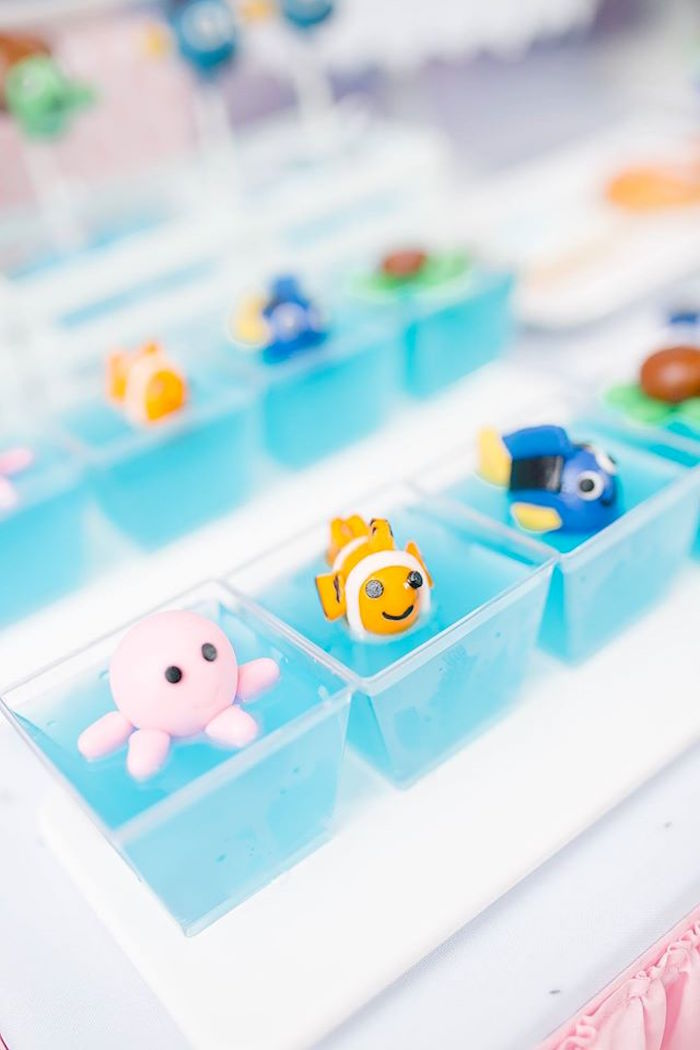Finding Dory jello cups from a Finding Dory Birthday Pool Party on Kara's Party Ideas | KarasPartyIdeas.com (11)