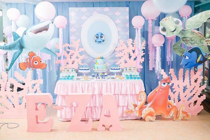 Finding Dory Birthday Pool Party on Kara's Party Ideas | KarasPartyIdeas.com (9)