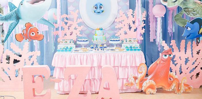 Finding Dory Birthday Pool Party on Kara's Party Ideas   KarasPartyIdeas.com (5)