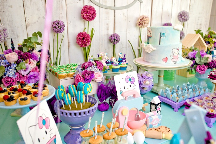 Floral Hello Kitty Birthday Party on Kara's Party Ideas | KarasPartyIdeas.com (22)